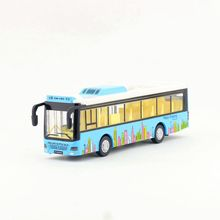 Diecast Metal Toy/Sound & Light Pull back Educational Car/City Sightseeing Bus/For children's gift or collection(China)
