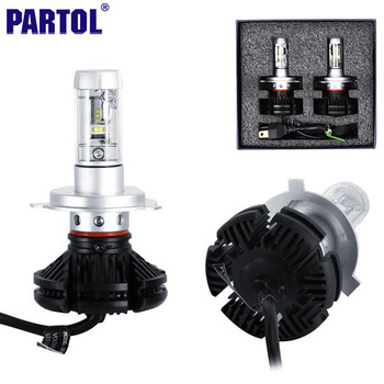 X3 Partol H4 9003 HB2 Voiture LED Phare Ampoules 50 W 6000LM CREE Puces tout en un CSP LED Phare Salut Lo Faisceau 3000 K 6500 K 8000 K 12 V