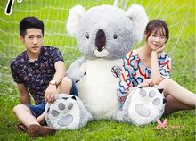 high quality goods huge 140cm gray koala plush toy, soft hugging pillow toy birthday gift h2964(China)
