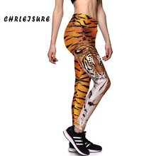S-XL Leggings Womens Fashion Print Tiger Sexy Workout Leggings For Joggers High Waist Elastic Animals Print leggins