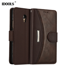 IDOOLS Case For Meizu M5 Note Luxury PU Leather Cover Wallet Flip Mobile Phone Bag Case For Meizu Meilan Note 5 IDOOLS 5.5 Inch(China)
