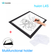 "Huion L4S 17.7"" 5mm Ultra Thin LED Light Pad USB Drawing Tracing Board Adjustable Brightness Stencil With Multifunction Holder"