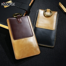 KISSCASE Universal Leather Pouch for iPhone 7 6 6s Plus 5s se 4s Samsung Galaxy S7 S6 Edge S5 J5 J7 J3 LG G2 G3 Case Phone Bag