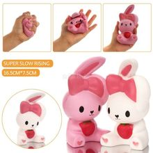 16CM Jumbo Rabbit Squishy Slow Rising Cute Phone Straps Colossal Fun Rabbit Kid Toy Squeeze Soft Relieve Charm Anxiet Gift