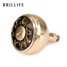 BRILLIFE DIY Fishing Reel Handle Knob 2 Ball Bearings Aluminium Handle Knob for Shimano Daiwa ABU Garcia Reel(China)