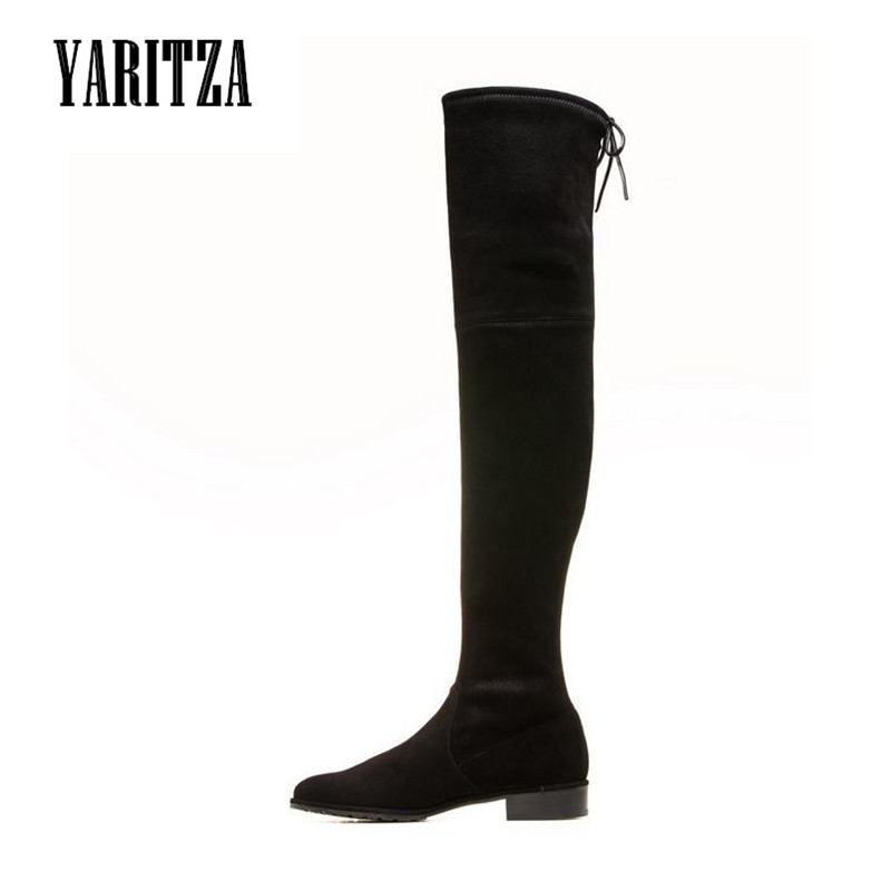 YARITZA 2017 New Arrival Women Boots Thigh High Boots Sheepskin Genuine Leather Solid Women Shoes High Boots Winter Spring Boot<br>