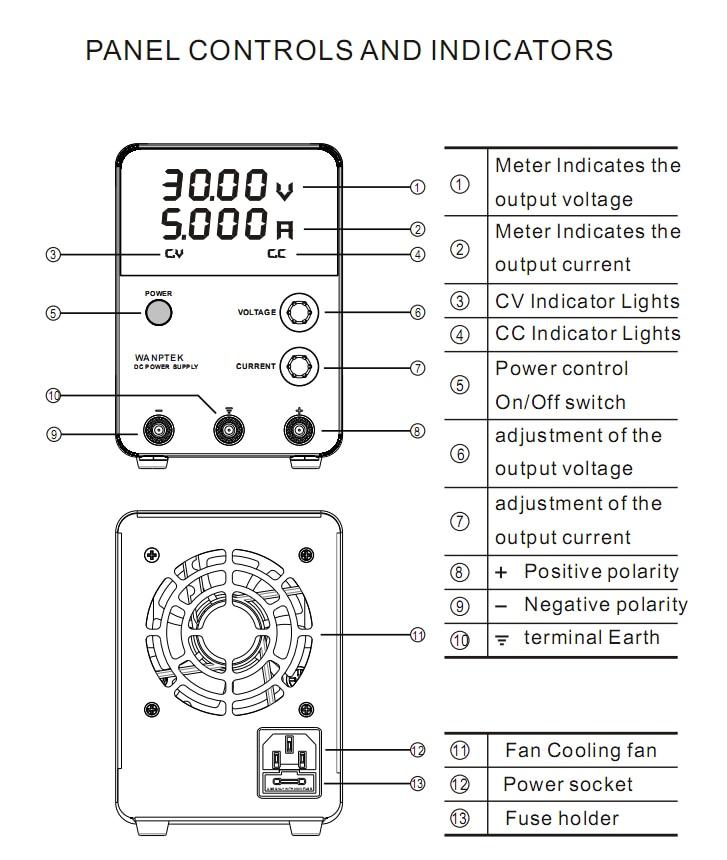 GPS605D 60V 5A Voltage Regulators Switch DC power supply 0.01V 0.001A Digital Display adjustable laboratory Mini DC Power Supply (7)