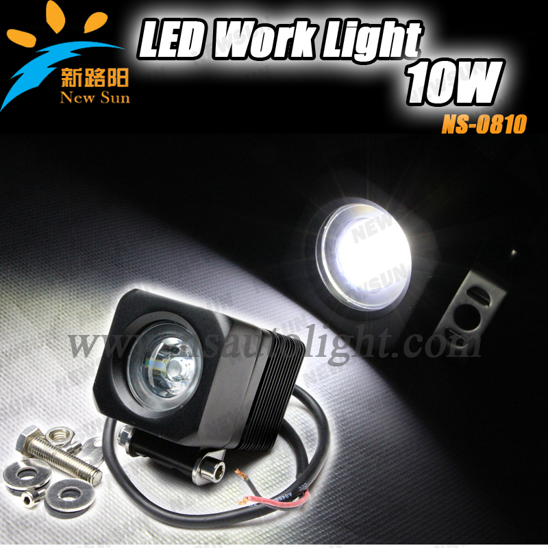 10W one CREE led chips working lights 10-30V DC 10W LED Work Lights, Truck LED Work Lights,Off Road Auto LED Work Lamps<br>