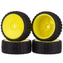 New 4PCS Rubber RC Racing Tires Car On Road Wheel Rim Fit For HSP HPI 901YALL 1/10 HSP 94123/94122/94103/D4/D3