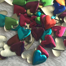 Heart Shape Mix Color 12mm Rhinestuds Hot fix Nailheads Iron On Studs DIY Rhinestones Accessory For Clothing/shoes/ bags 200PCS(China)