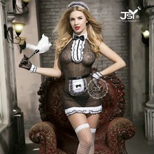9723 Sexy French Maid Cosplay Costumes Women Exotic Lingerie Hot Sexy Maid Outfit Exotic Halloween Apparel Fancy Dress