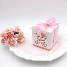 50pcs Creative wedding marriage new hollow BB car baby candy box European candy box finished