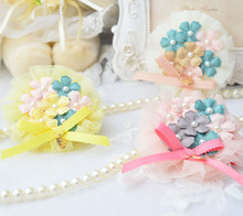 Girl Hair Clips Flower Bow Hair Clip Cute Hairpins Fashion Party Gift Barrettes Accessories Pink/Blue/Purple/Yellow