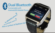 "1.54""Screen MTK6260 Bluetooth 3.0 phone watch wristwatch with waterproof IP54 Supporting Micro SIM SD Smart Phone for android"