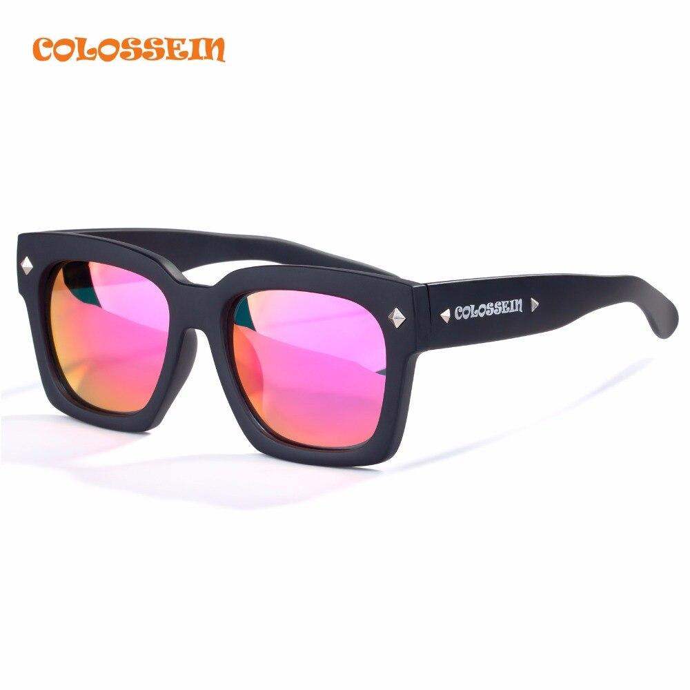 COLOSSEIN Orange Label Fashion Street Oversize Sunglasses Women Pink Polarized Lens Glasses Black Square Frame Adult Loves Item<br><br>Aliexpress