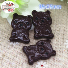 10PCS Bear chocolate biscuits cookies Dessert Resin Flat back Cabochon Miniature food Art Supply Decoration Charm