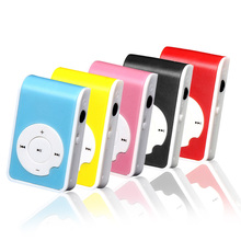 Puscard Mini Clip Metal USB MP3 Player Support Micro SD TF Card Music Media Black Blue  Red Yellow Pink  5 Color For U Choose