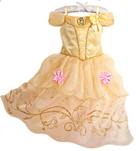 free shipping belle Princess Girls Fancy Dress Fairytale Book Week Kids Childrens Costumes