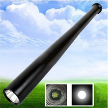 3 Mode Q5 Baseball Bat Flashlight Security Camping Light Torch (Color: Black) very cool self defense torch light