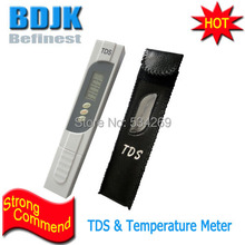 Brand New White Digital TDS Meters 0~9990ppm Tester with Temperature Display