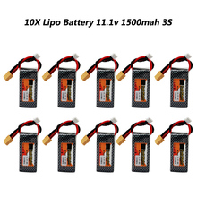 10pcs/lot Lithium Polymer Lipo Battery 11.1V 1500mAh 3S 40C XT60 Plug For RC Quadcopter FPV Car Multicopter Model Parts Bateria