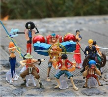 9pcs/set One Piece Action Figure Toys Luffy Nami Roronoa Zoro Figures Cartoon Anime Pvc Model Dolls For Boys Best Gift