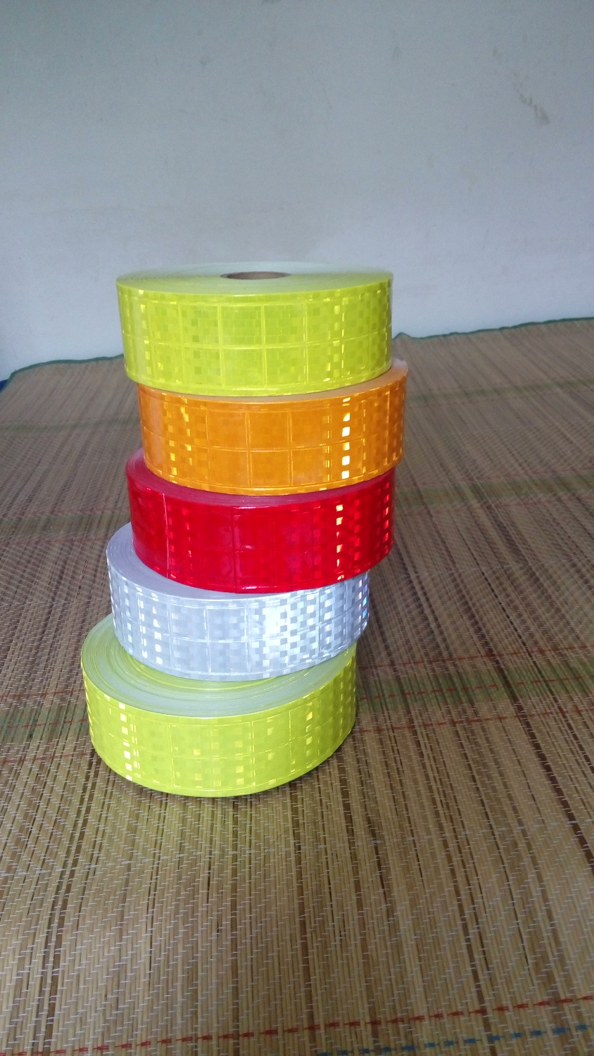 5cm*50m High Visibility Warning Safety Reflective PVC Tape Reflective Vest Material 4 Color For Choice <br>