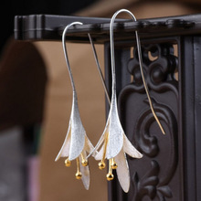 Elegant Long Flower Earrings For Women New Design Lovely Girls Christmas Gift Statement Jewelry Party Accessories(China)