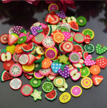 Free shipping! Polymer clay craft silk Fruit slices Flat back Resin cabochons phone for DIY decoration mix 200pcs/lot(China)