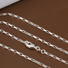 "Buy FSC005 Men's 925 Silver Chain Necklace 2mm 16""-24"" Links Chain Wholesale Cheap Fashion 925 Sterling Silver Jewelry for $2.54 in AliExpress store"