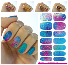 Fashionable small broken flower decoration nail decal art nail stickers decoration simple transfer foil k640(China)
