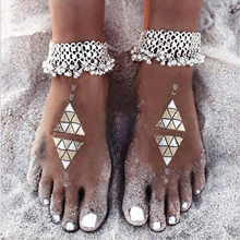 Silver Boho Bohemia Women Sandal Ankle Chain Bell Anklet Beach Accessories Beachwear Foot Bracelet Gypsy Jewelry(China)