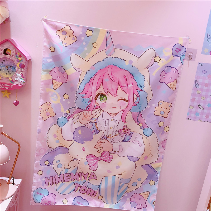 1PC Lovely Wall Hanging Blanket Wall Carpet Home Decoration Multifunction Mat