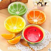 On sale! creative bowl lovely hand painted fruit bowl watermelon ceramic bowl Cartoon tableware flatware 4 styles optional~(China)
