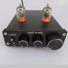 Buy DC12V HIFI 6J1 Tube Preamplifier Valve Audio Dual Bass Bass Amplifier, NE5532 Sound Silver/Black for $35.99 in AliExpress store