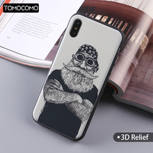 TOMOCOMO Soft TPU Printing Skull Cool Man Cartoon Design Case Back Cover For iPhone5 5SE 6 6plus 7 7Plus 8 8Plus X Fundas(China)