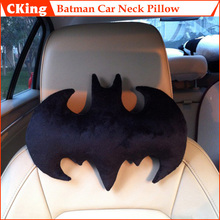 1 Piece Fashion Batman Shaped Soft Plush Neck Pillow Cozy Waist Pillow Car Decoration Travel Cushion Set Black Color Hot Selling(China)