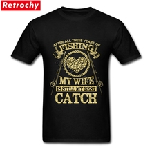 2017 Best Quality My Wife is my Best T Shirt for Men Classic Company Logo Custom T Shirt Tops XXXL Size Tee(China)