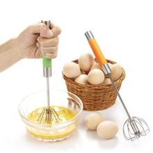 Manual Whisk Egg Beater Stainless Steel Mini Egg Beater Mixer Shaker Rotary Hand Mixer Egg Beaten()