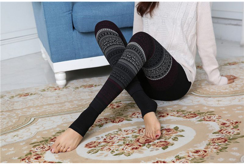 Winter Leggings, Women's High Waist Warm Leggings 10
