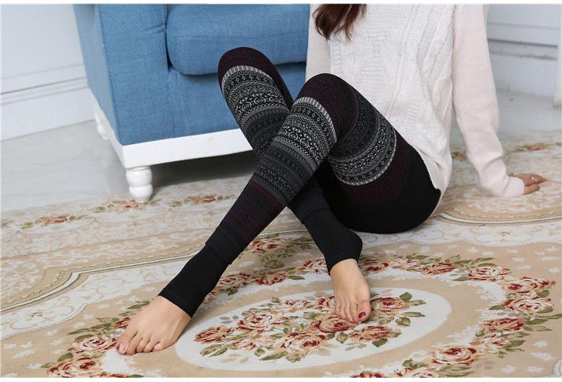 Winter Leggings, Women's High Waist Warm Leggings 10
