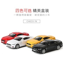1:36 Ford Mustang Alloy car model Strong pull back The door can be opened Give the child the best gift(China)