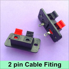 20X 2 Pin Cable Clips Wedge Spring Clip Connector 2 Bit Red Black LED Strip Test Bracket Fixing Holder Wire Fitting Base
