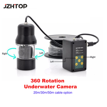 360 Rotation View Night Vision Underwater Camera With 50m Cable For Fishing Underwater Searching Well Inspection(China)