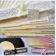 75 pcs/lot  Personalized Luxurious Silk Fold hand Fan in Elegant Laser-Cut Gift Box  +Party Favors/wedding Gifts+printing
