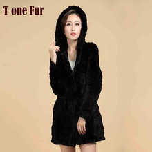 New Women Winter Warm Real Natural Genuine Rabbit Fur Coat FP359 Free Shipping in Low price and good quality export Fur(China)