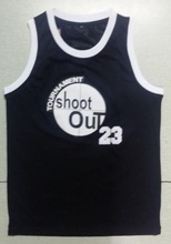 Mounttop Shoot Out Basketball Jersey Number 23 Color Black Good Quality Basketball Jersey
