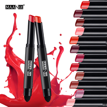 MAANGE 12 Colors Lipstick Moisturizer Waterproof Long Lasting Matte Lip Sticker lipstick pen Lip Golss Tint Sexy Makeup maquiage