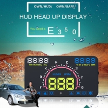 Buy E350 5.8 Inch Screen HUD Head Display Car Speeding Warning Speedometers Windshield Projector System Cars OBDII for $41.99 in AliExpress store