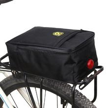 New Foldable Cycling Bicycle Bike Black Pannier Rear Seat Bag Storage Rear Outdoor Bag Tail Pack with Warning light(China)